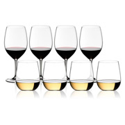 Riedel - Vinum Bordeaux/'O' Chardonnay Pay for 4 Get 8 Pack