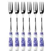 Spode - Blue Italian Pastry Fork Set 6pce