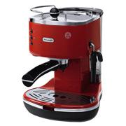 DeLonghi - Icona Espresso and Cappuccino Red Coffee Maker