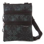 AT - Triple Zipper Filigree Travel Bag
