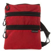 AT - Triple Zipper Red Travel Bag