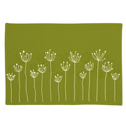 Ogilvies Designs - Poppy Field Placemat Green