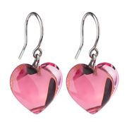 Baccarat - Baby Heart Pink Crystal Earrings