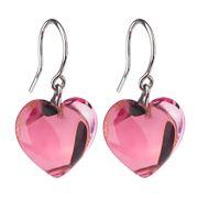 Baccarat - Baby Heart Pink Crystal Earrings