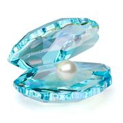 Swarovski - Azure Shell with Pearl Small