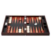 Renzo -  Thesius Leather Backgammon Set Brown