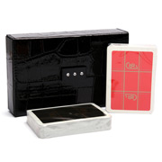 Renzo - Black Crocodile Print Playing Card Case w/Crystals