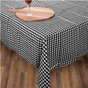 Rans - Gingham Tablecloth Black 150x230cm