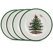 Spode - Christmas Tree Entree Plate Set 4pce