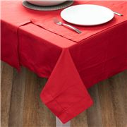 Rans - Hemstitch Red Tablecloth 130x180cm