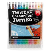 Micador - Twistaz Colourfun Jumbo Twist Up Crayon Set 12pce
