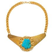 Fiel Sol - Crown of Galene Gold Necklace w Turquoise Stone