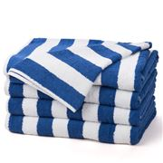 Frenkel - Blue and White Striped Pool Towel