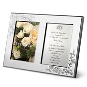Wedgwood - Vera Wang Lace Bouquet Double Frame 12.5x17.5cm