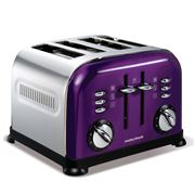 Morphy Richards - Accents Toaster Polished Plum 4 Slice