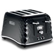 DeLonghi - Brillante Black Toaster 4 Slice