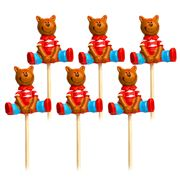 Robert Gordon - Cupcake Topper Set 6pce Teddybear