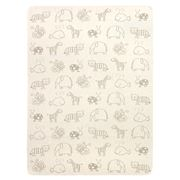 David Fussenegger - Animals Cot Blanket Beige/Taupe