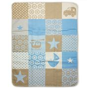 David Fussenegger - Blue Land Air & Sea Bassinet Blanket
