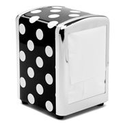 Outliving - Retro Napkin Holder Polka Black