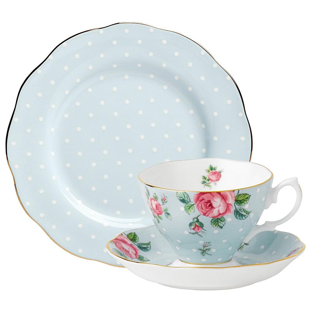 sc 1 st  Peteru0027s of Kensington & Royal Albert - Polka Blue Teacup Saucer u0026 Plate | Peteru0027s of Kensington