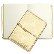 Bisque - Embossed Notebook Gold
