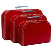 Galison - Euro Suitcase Set Red 3pce