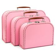 Galison - Euro Suitcase Set Pink Blush 3pce