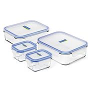 Glasslock - Tempered Glass Food Container Set 4pce