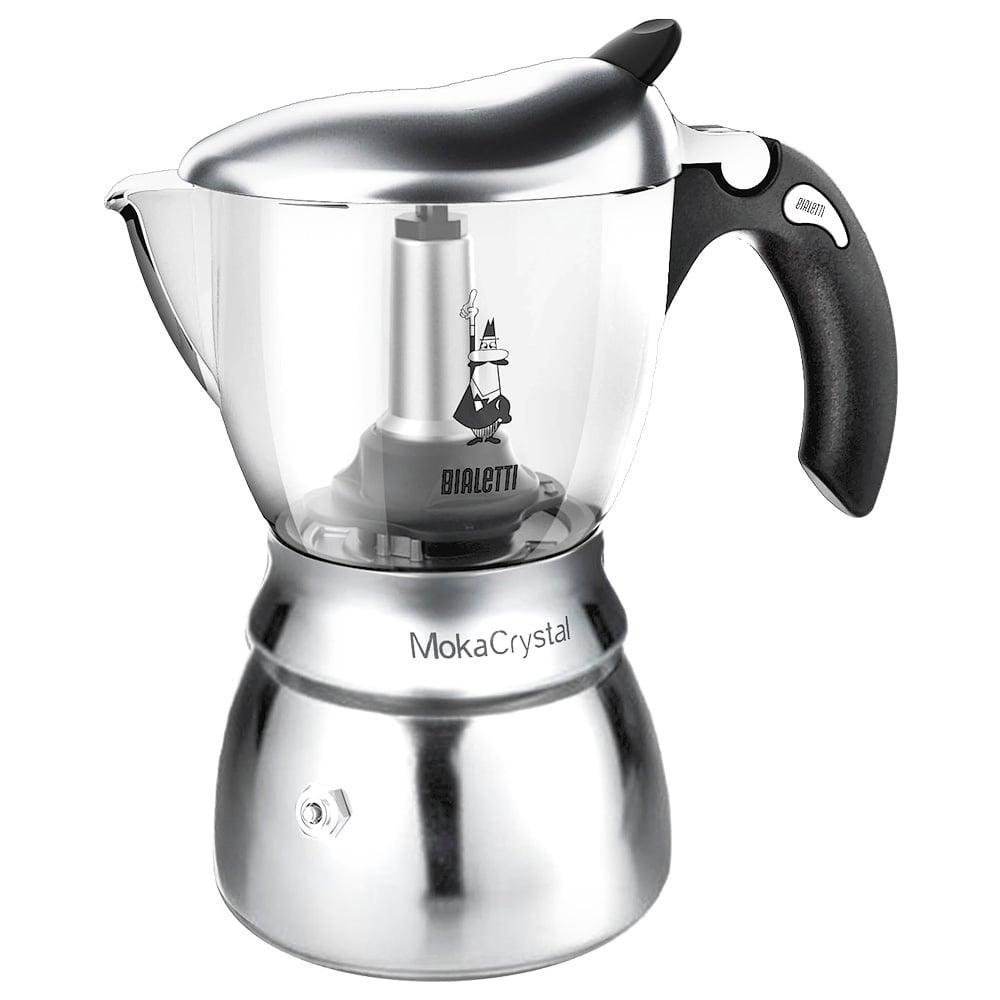 Bialetti Moka Crystal Espresso Maker 4 Cup