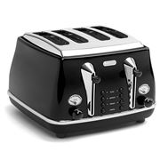 DeLonghi - Icona Toaster Black Four Slice