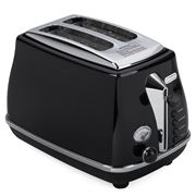 DeLonghi - Icona Toaster Black Two Slice