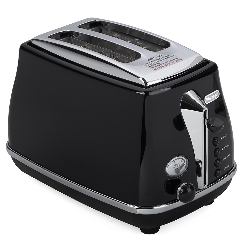 Delonghi Icona Toaster Black 2 Slice Peter S Of Kensington