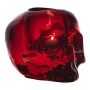 Kosta Boda - Still Life Skull Votive Holder Red