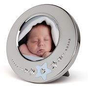 Whitehill - Blue Star Baby Photo Frame 12cm