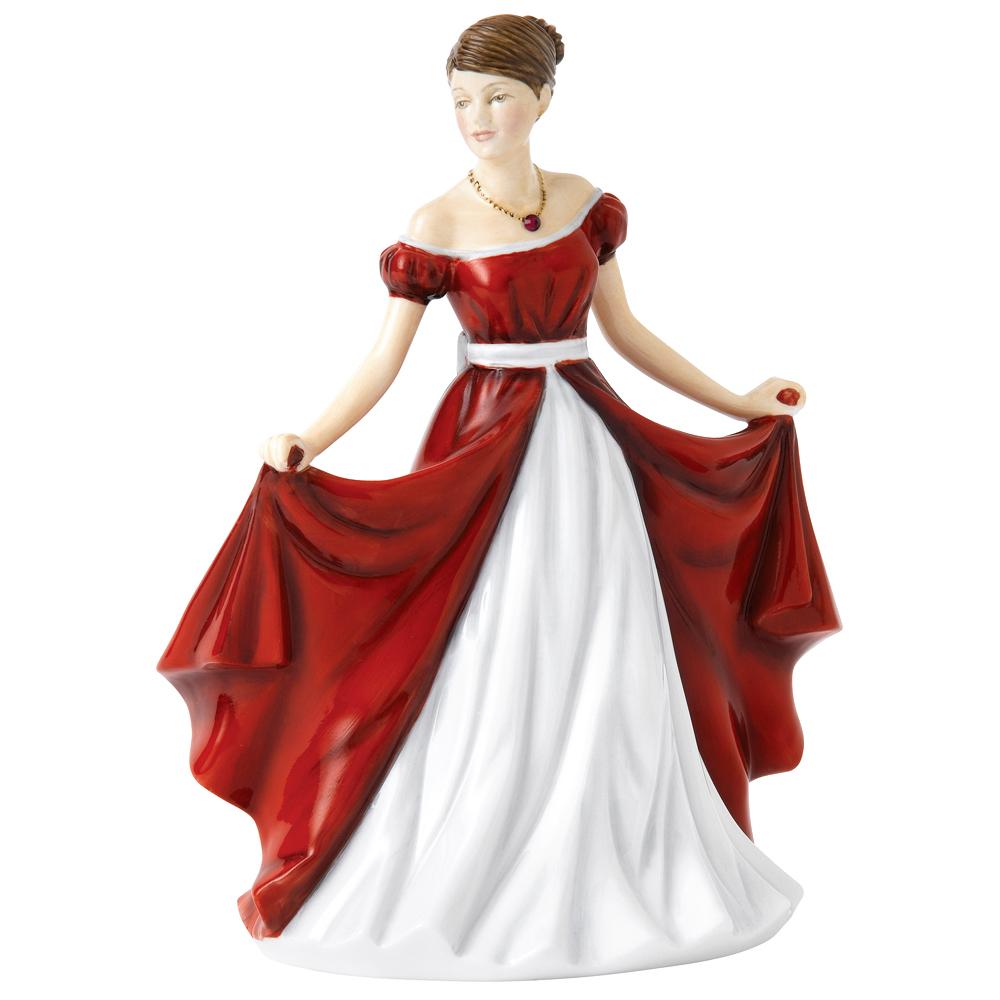 Royal Doulton - Birthstone Petite Figurine July Ruby
