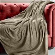 Brogo - Luxe Supersoft Micro Mink Mocha Blanket