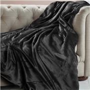 Brogo - Luxe Supersoft Micro Mink Charcoal Blanket