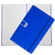 Pantone - Dazzling Blue Large Plain Elastic Band Notebook