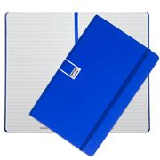 Pantone - Dazzling Blue Large Ruled Elastic Band Notebook