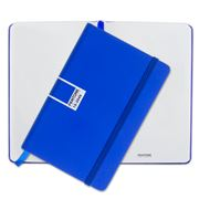 Pantone - Dazzling Blue Pocket Plain Elastic Band Notebook