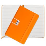 Pantone - Flame Orange Pocket Ruled Elastic Band Notebook