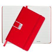 Pantone - Tomato Pocket Ruled Elastic Band Notebook