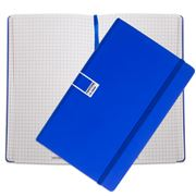 Pantone - Dazzling Blue Large Grid Elastic Band Notebook
