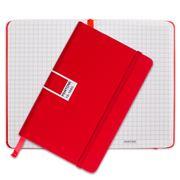 Pantone - Tomato Pocket Grid Elastic Band Notebook