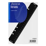 Filofax - A5 Black Ruler/Page Marker