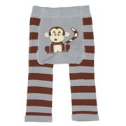 Tippy Toes - Footless Tights Monkey 6-12 Months