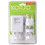 Korjo - Worldwide 4 Port USB Adaptor