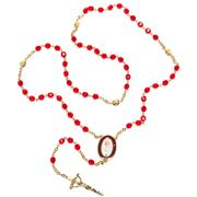 Vatican Library Collection - Pope Francis Red Rosary Set