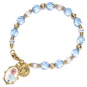 Vatican Library Collection - Pope Francis Blue Bead Bracelet